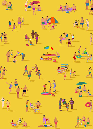 Social Distancing Groups at the Beach