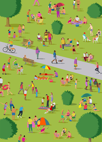 Social Distancing Groups in the park