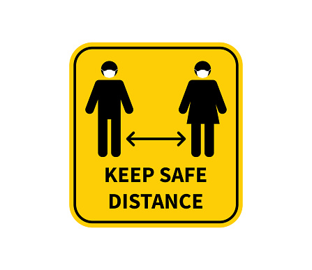 Social distancing. Keep the 2 meter distance. Coronovirus epidemic protective. Vector illustration
