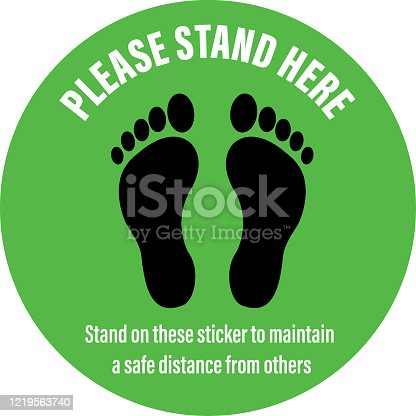 istock Social Distancing Signage Floor Sticker 1219563740