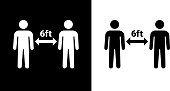 istock Social Distancing Two People Icon 1220370265