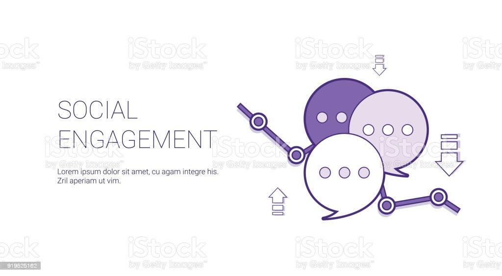 Banner de Web de compromiso social con copia espacio negocios Marketing contenido concepto - ilustración de arte vectorial