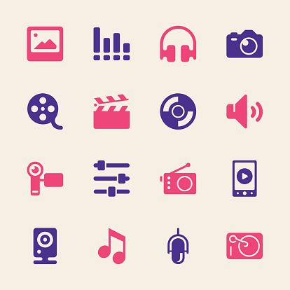 Social Entertainment Icons - Color Series