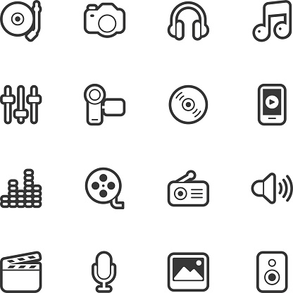 Social Entertainment icons - Regular Outline