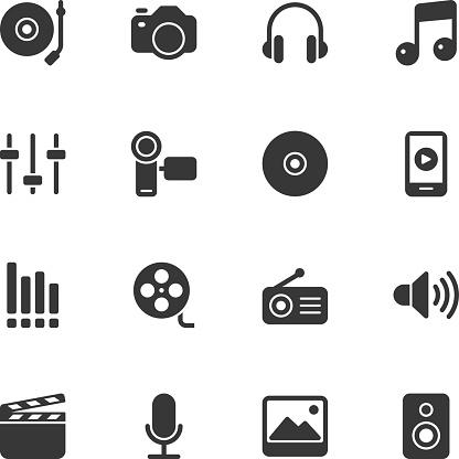 Social Entertainment icons - Regular