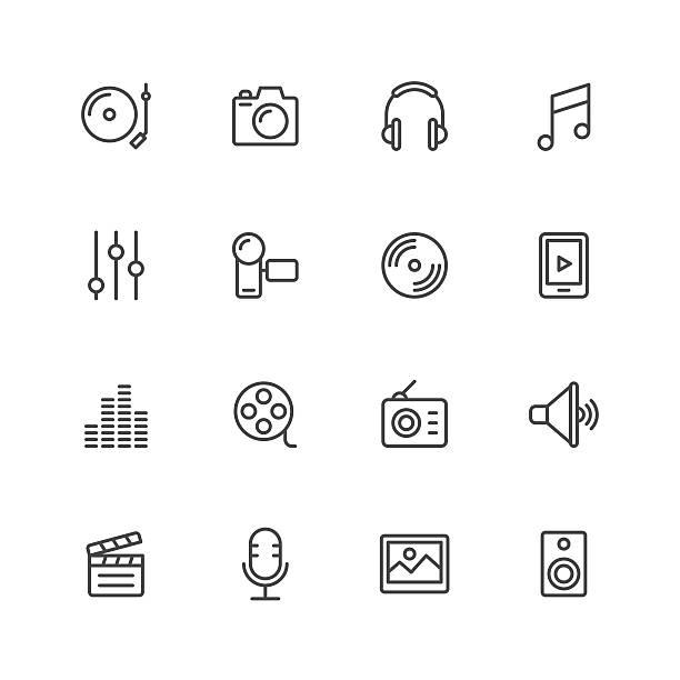social entertainment icons - 音楽のアイコン点のイラスト素材/クリップアート素材/マンガ素材/アイコン素材