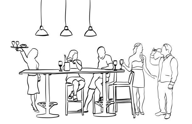 Social House Mingle – Vektorgrafik