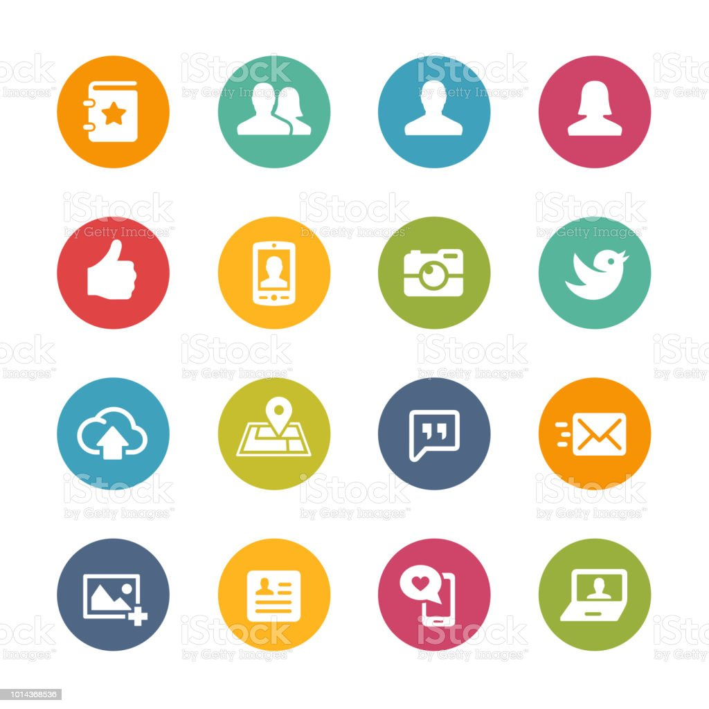 Social Icon Set // Fresh Colors Series