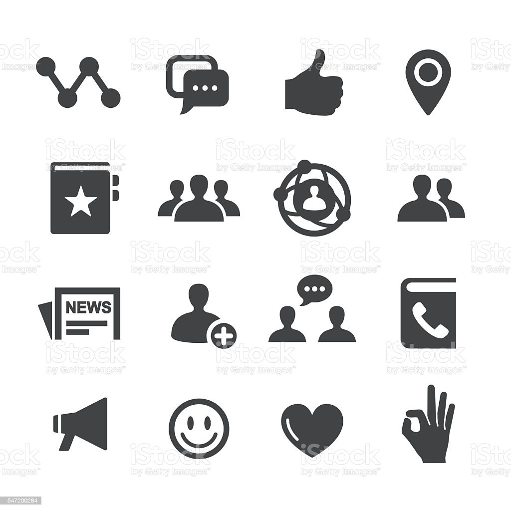 Social Icons - Acme Series vector art illustration