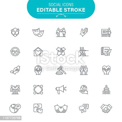 Contact, Audience, Conference - Event, Meeting, Editable Icon Set