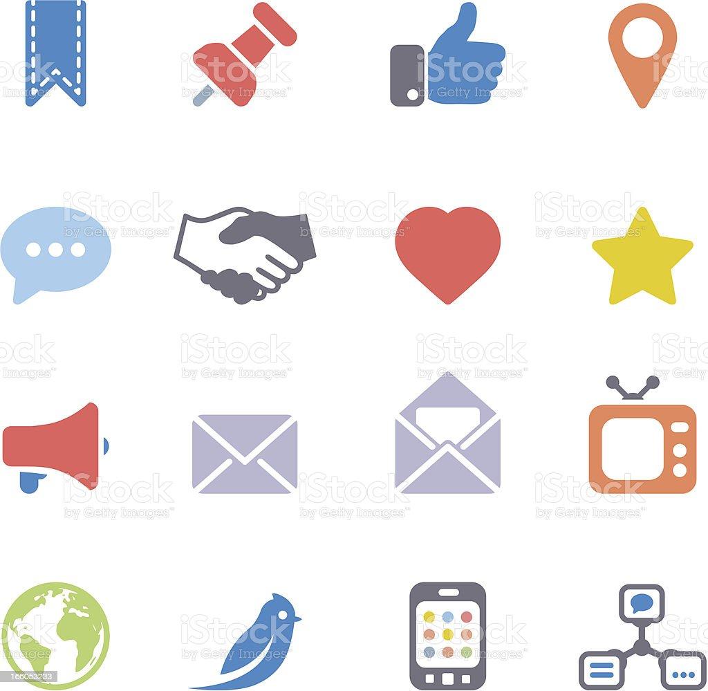 Social icons royalty-free stock vector art