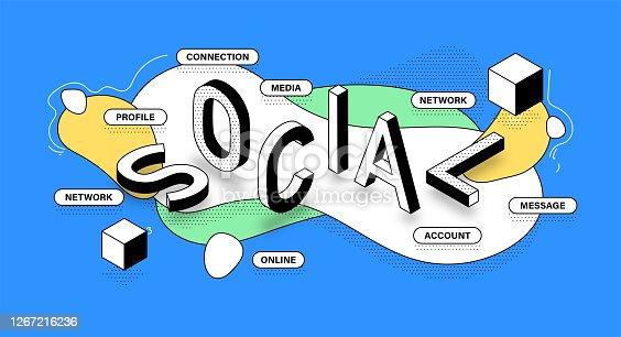 Social Isometric Banner Design