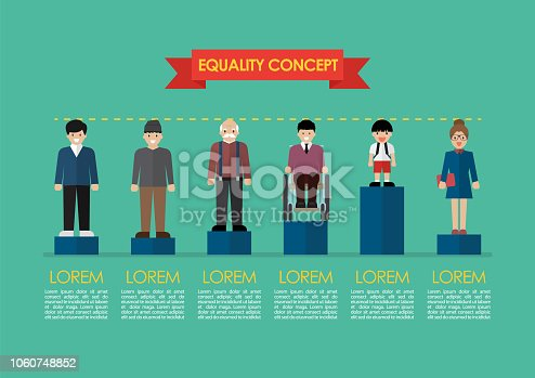istock Social issue equality concept infographic 1060748852