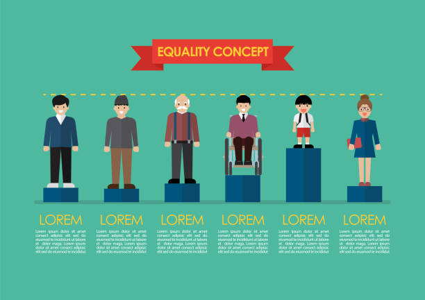 Social issue equality concept infographic vector art illustration