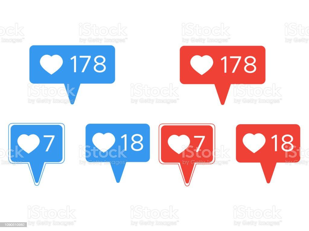 Social like counter. Social media vector illustration of web counter