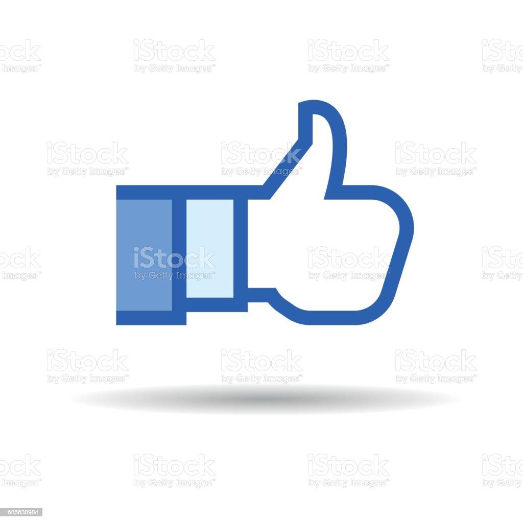 Social Like Icon vector art illustration