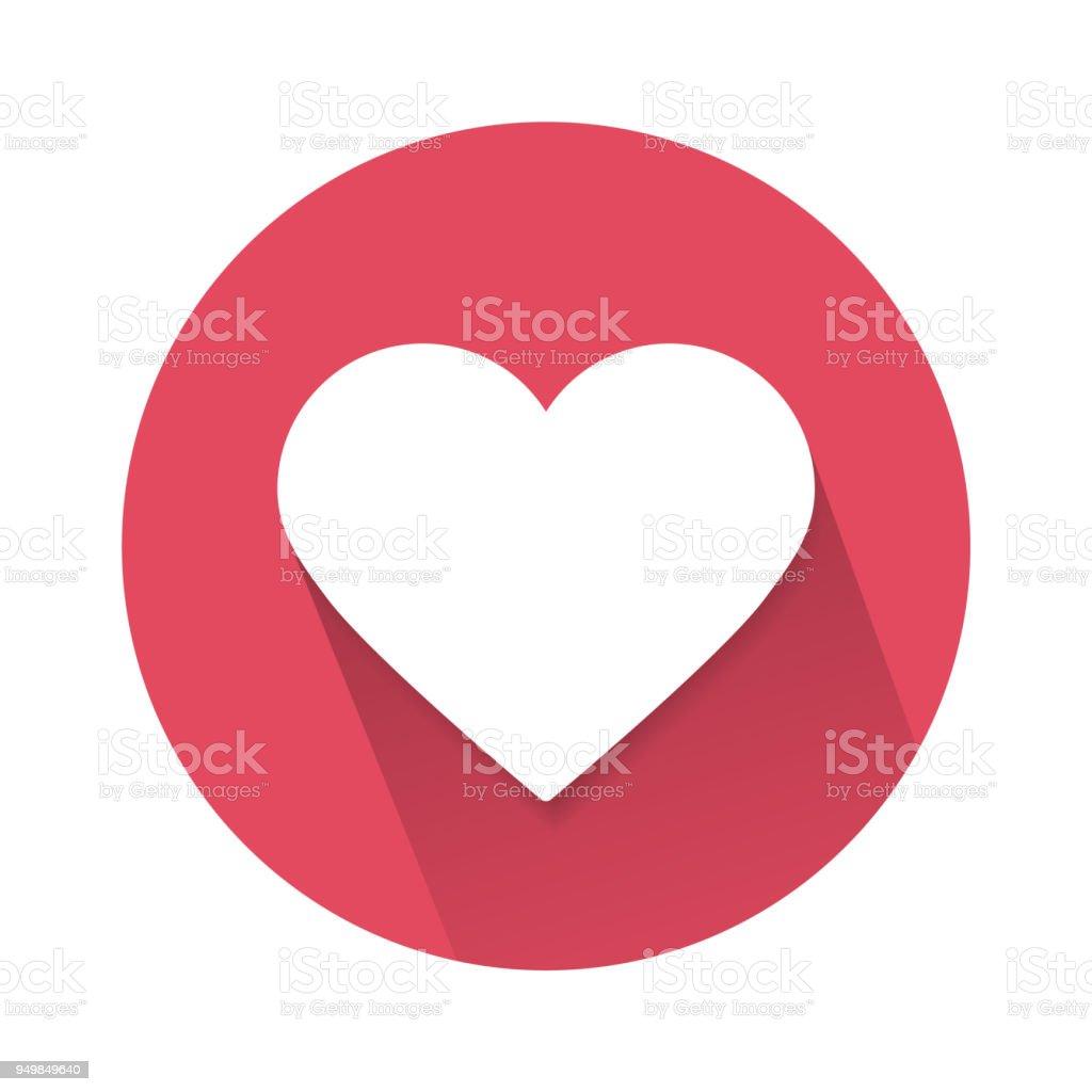 ícone de coração de amor social isolado no fundo branco. Ilustração em vetor. - ilustração de arte em vetor