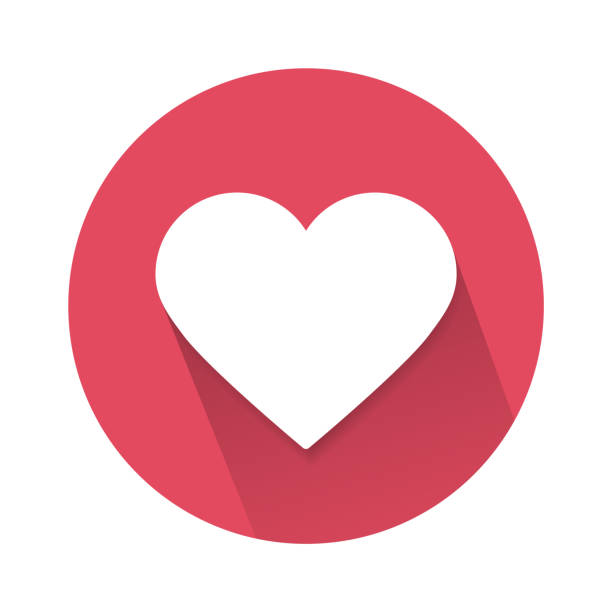 social love heart icon isolated on white background. vector illustration. - kopiować stock illustrations