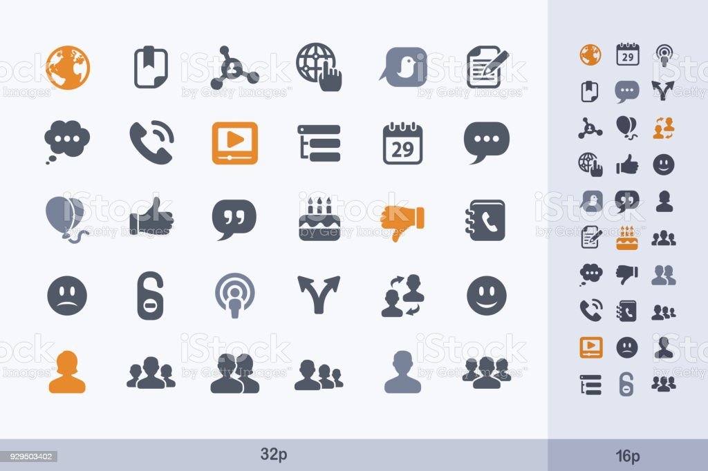 Social Media _ People - Carbon Icons. vector art illustration