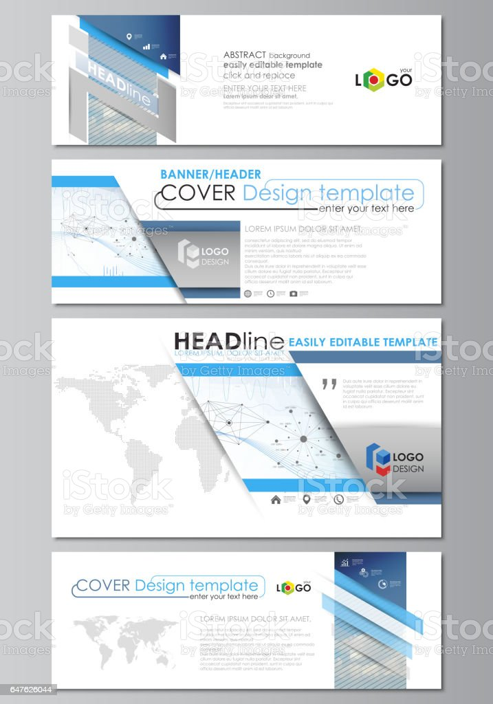 Social Media And Email Headers Modern Banners Business Templates
