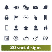 Social Media And People Community Icons Set