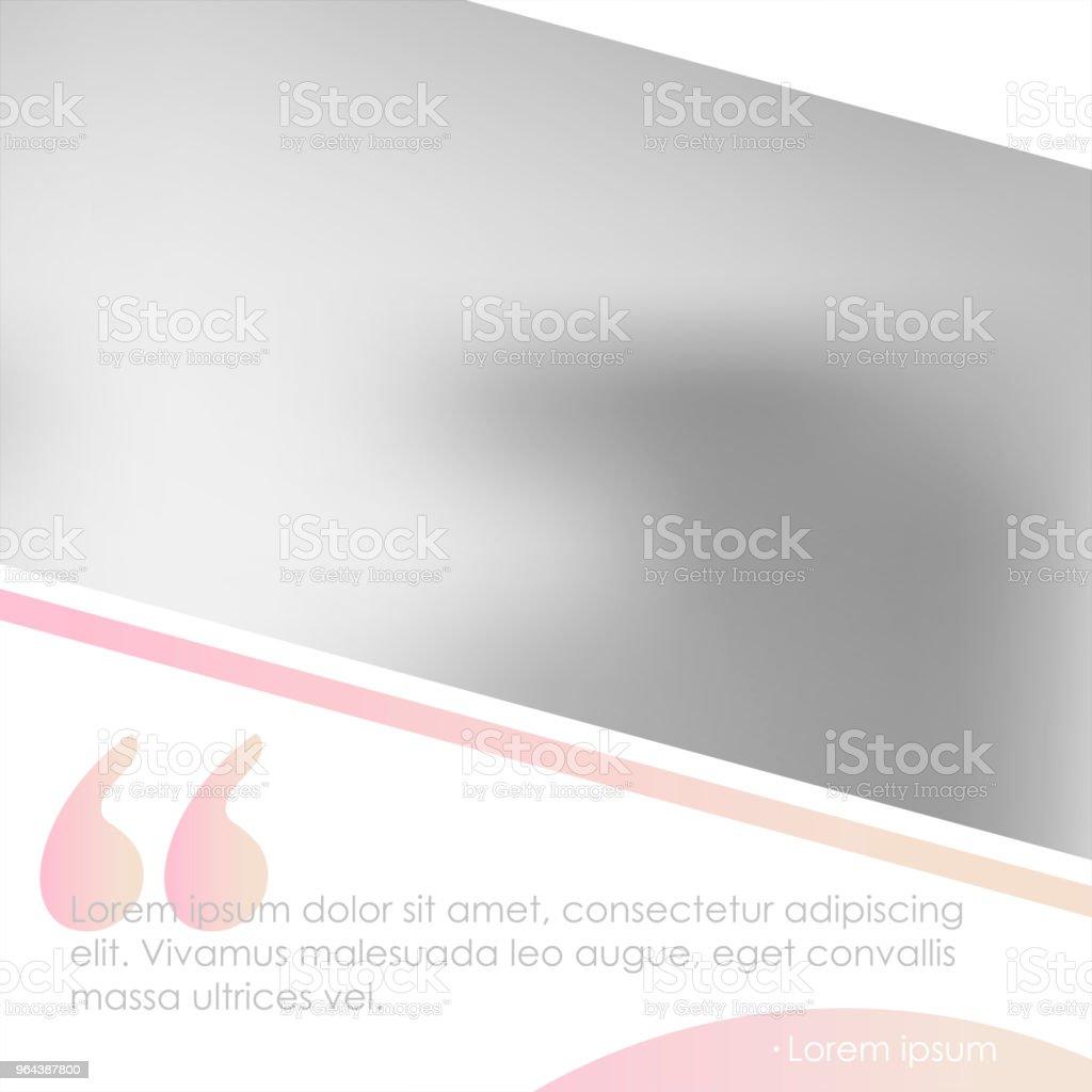 Modelo de banner de mídias sociais para seu blog ou empresa.  Projeto bonito pastel-de-rosa - Vetor de Beleza royalty-free