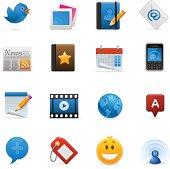 Social Media & Blog  Icon Set | Optima Series
