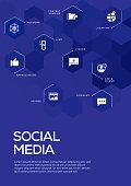 Social Media. Brochure Template Layout, Cover Design