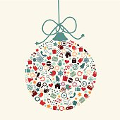 Social Media Christmas-Communication Abstracts, Media, Social Networking-Concept. Very easy to manipulate, elements are on a different layers.