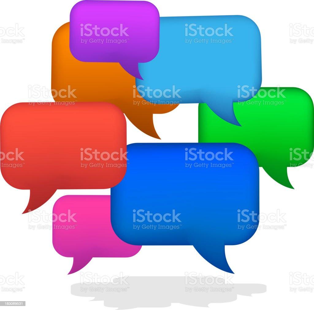 Social Media Communication Dialogue Bubble Balloon royalty-free stock vector art