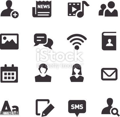Social Media Communication Icons Acme Series Stock Vector