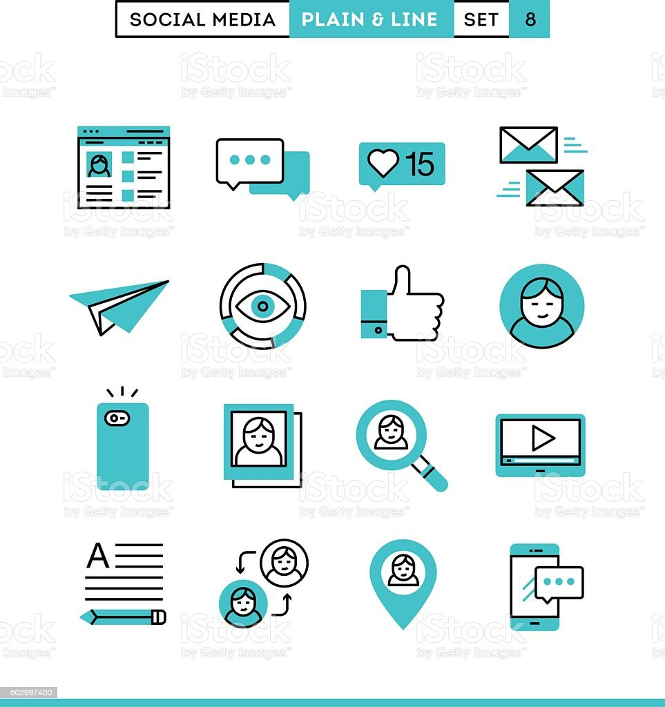 Social Media Communication Personal Profile Online Posting And More Stock  Illustration - Download Image Now