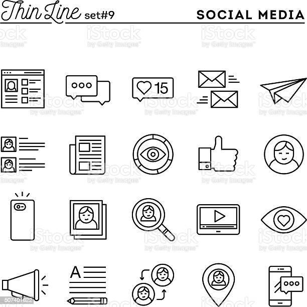 Rede Social Comunicação Perfil Pessoal Publicação Online E Muito Mais - Arte vetorial de stock e mais imagens de Admirar a Vista