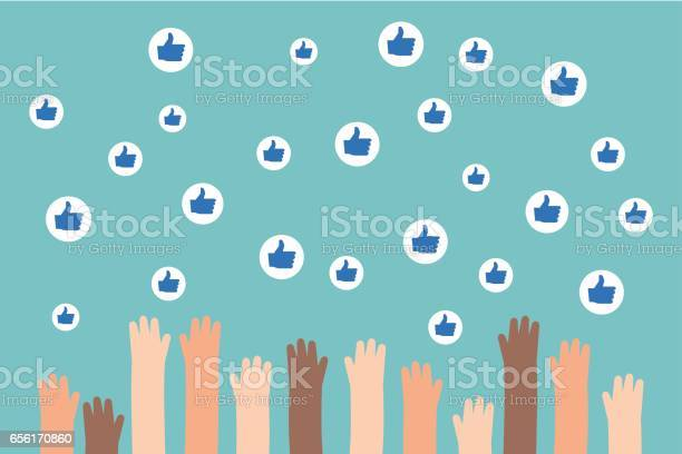 Social media competition raised hands trying to catch flying like vector id656170860?b=1&k=6&m=656170860&s=612x612&h=z44jzxqrs0jp34kn frr38nzuf0n9fbqwonb7enfysu=