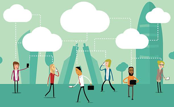 Social media concept vector design vector art illustration