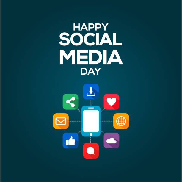 Social Media Day Vector Design Template vector art illustration