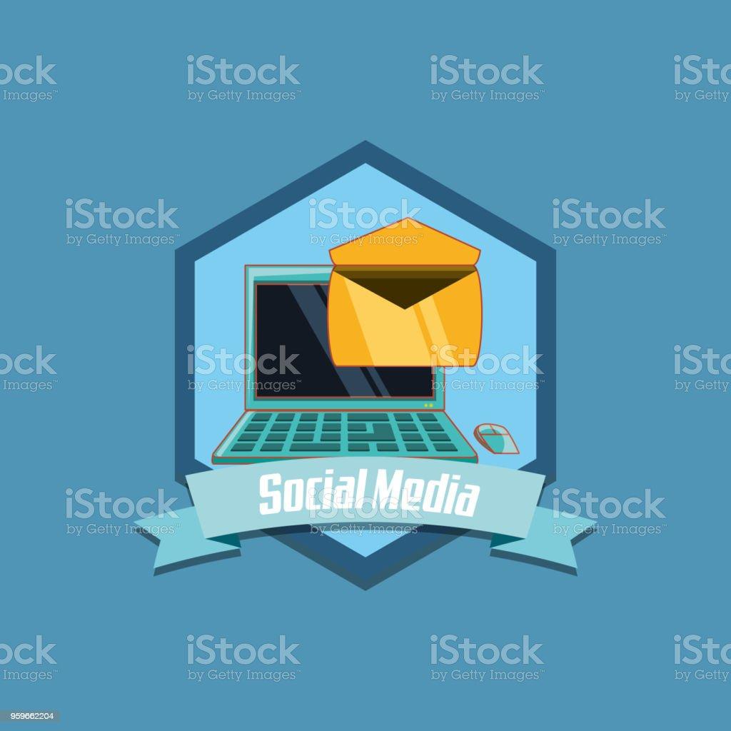 Diseño de medios sociales - arte vectorial de Blanco - Color libre de derechos