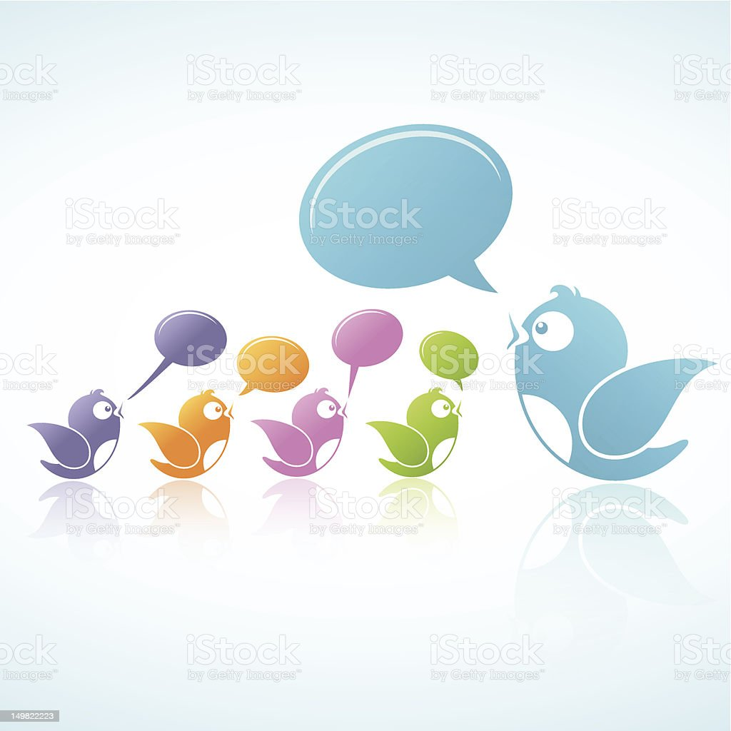 Social Media Discussion royalty-free stock vector art