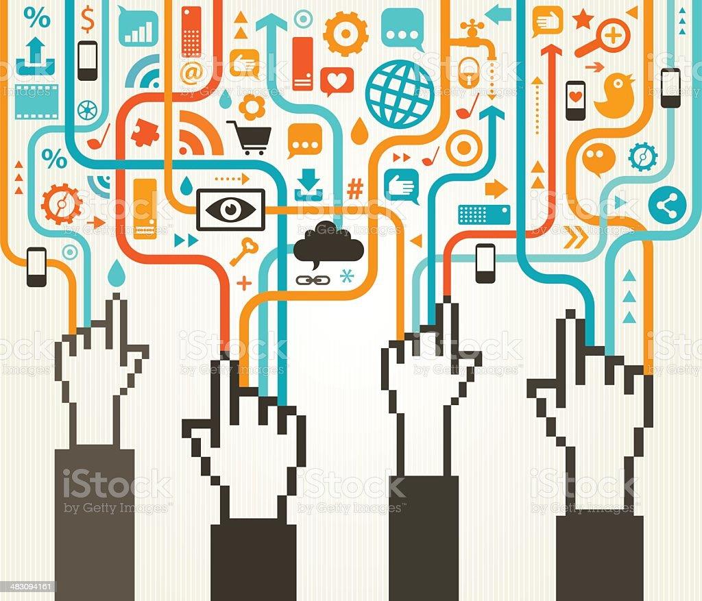 Social Media Gathering royalty-free social media gathering stock vector art & more images of abstract