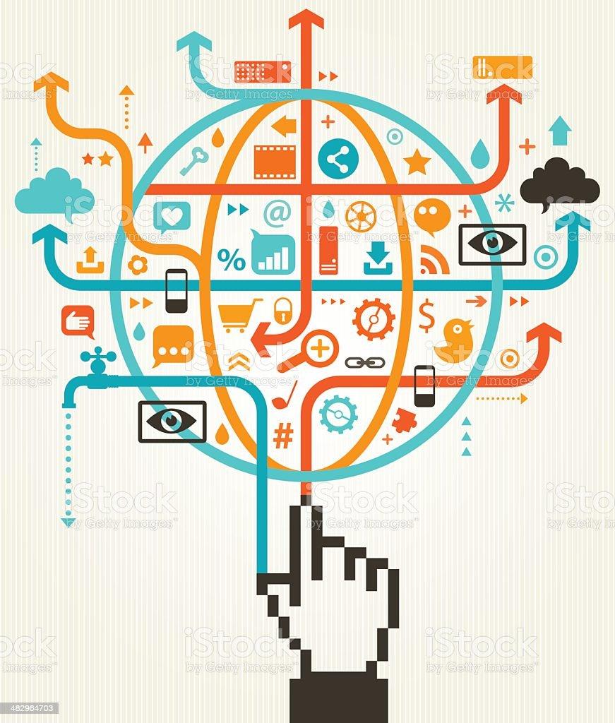 Social Media Global Communication Concept royalty-free stock vector art