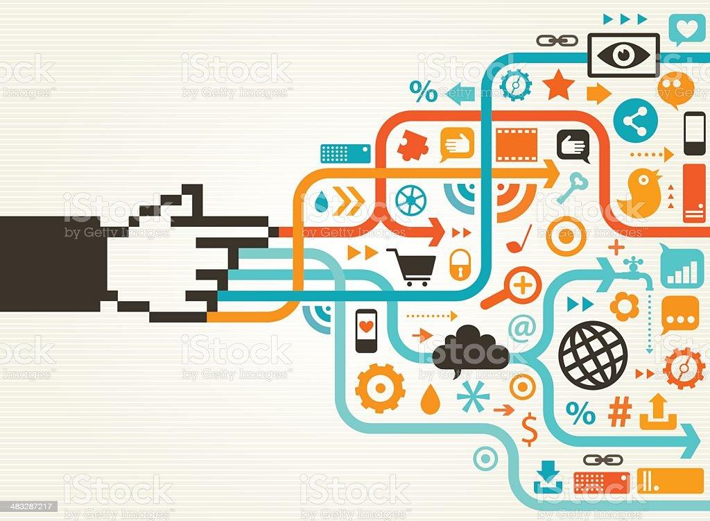 Social Media Horizontal Concept royalty-free stock vector art