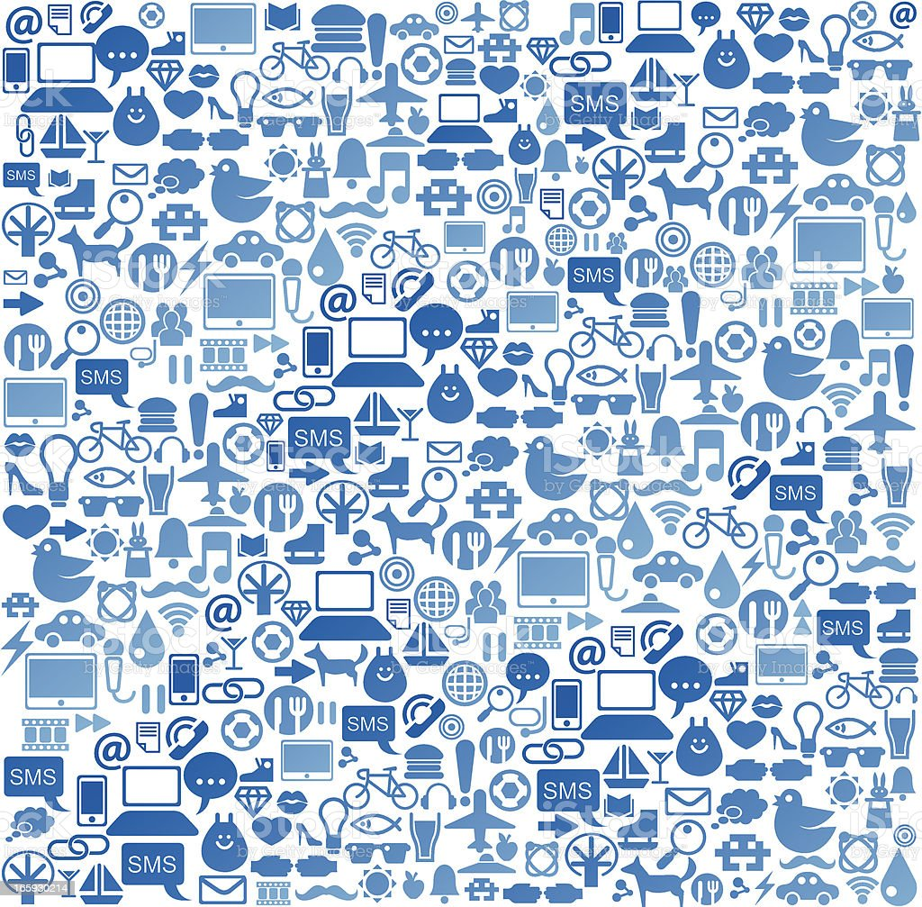 Social media icon background vector art illustration