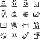 Social Media Icon - Line Series