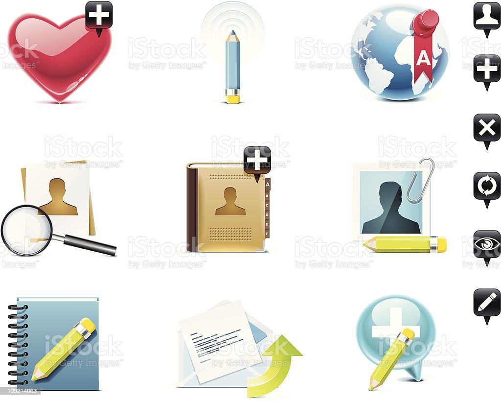 Social media icon set royalty-free stock vector art