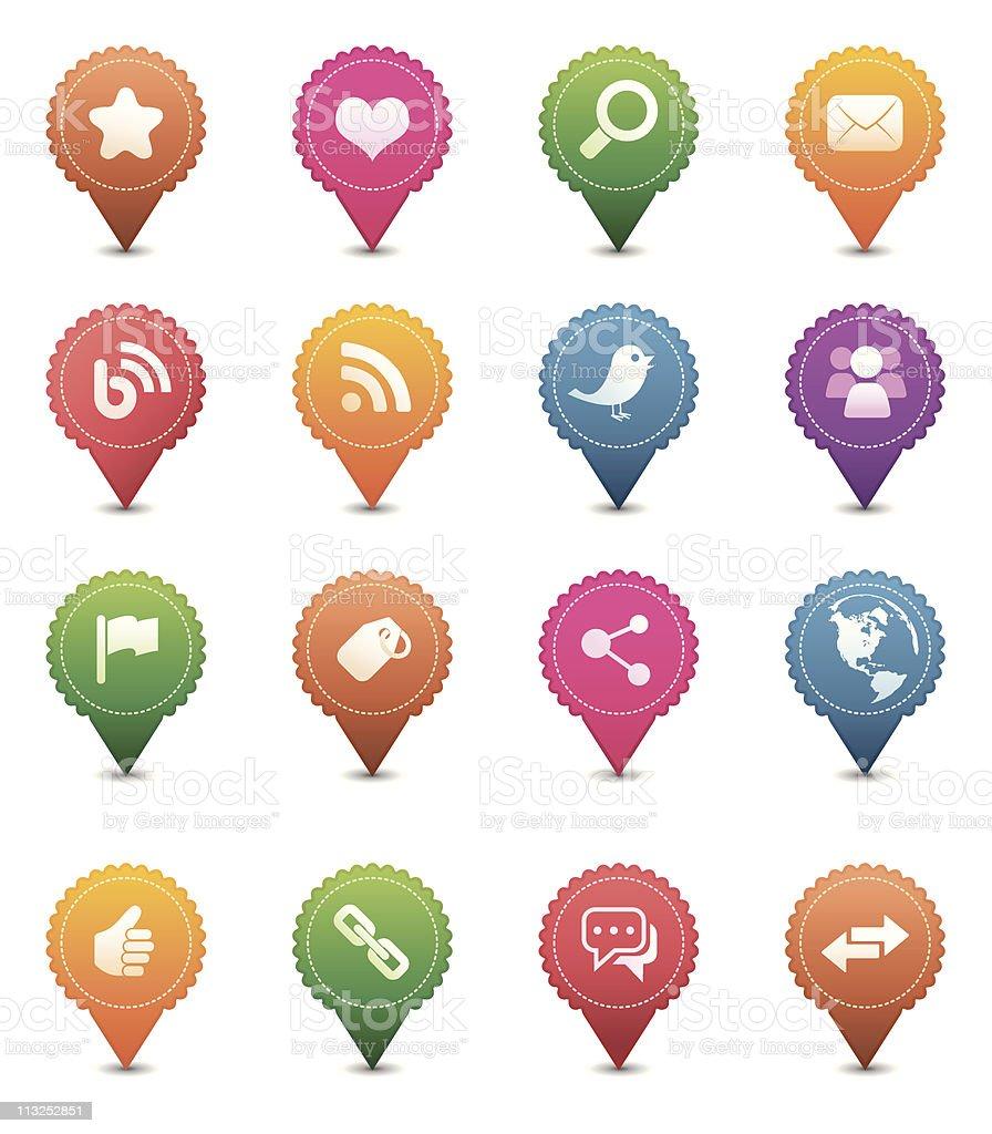 Social Media Icon Set royalty-free social media icon set stock vector art & more images of arrow symbol