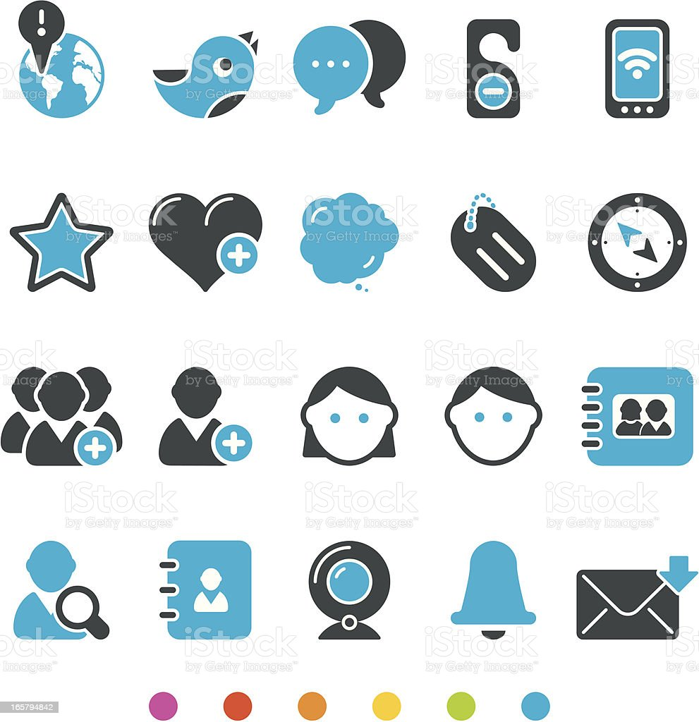 Social Media Icon Set vector art illustration