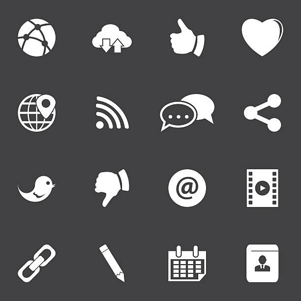 Conjunto de iconos de redes sociales - ilustración de arte vectorial