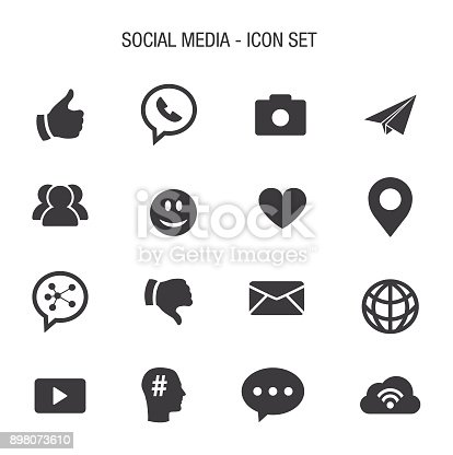 Vector of Social Media Icon Set
