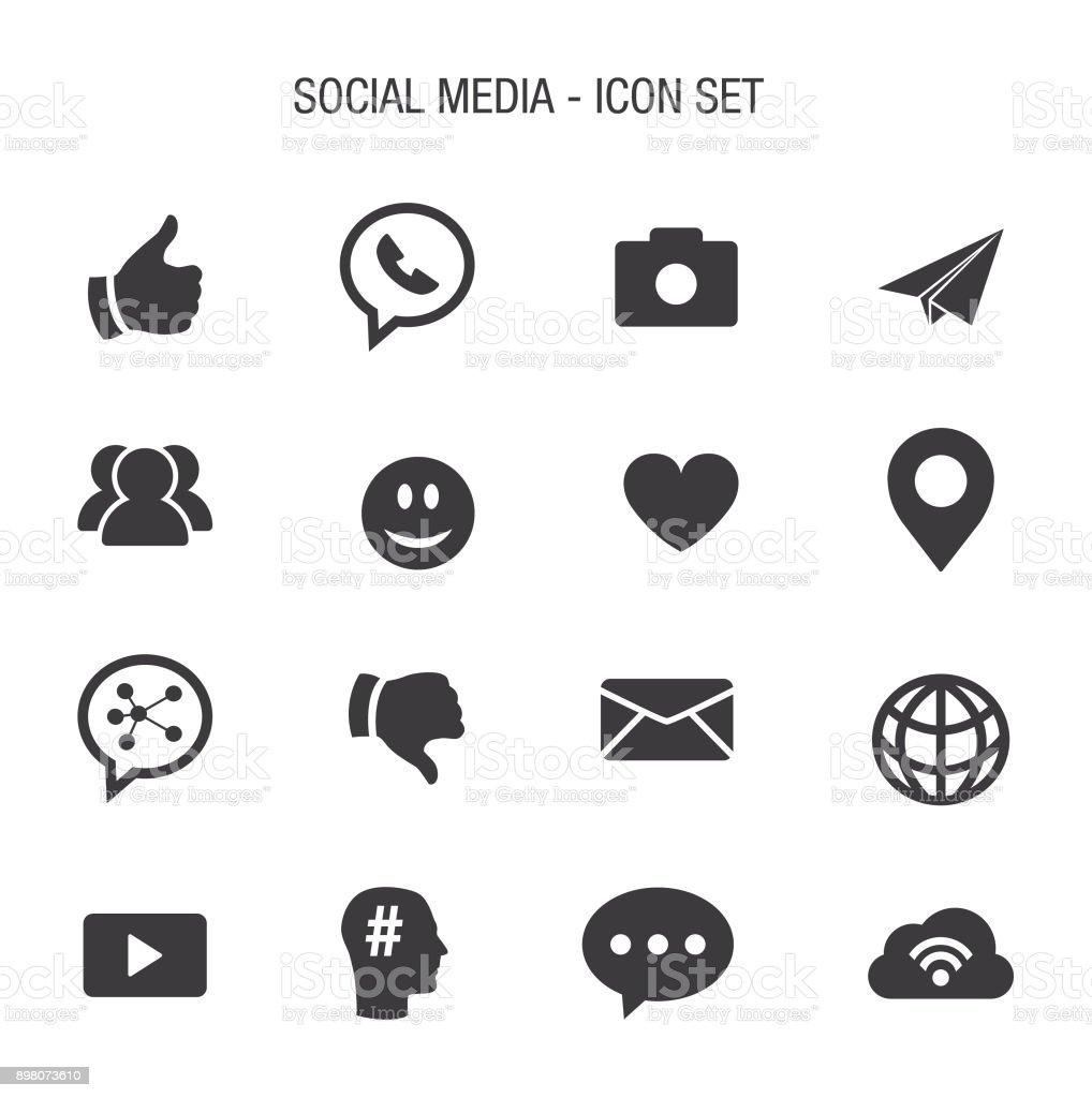 Símbolo Social - ilustração de arte em vetor