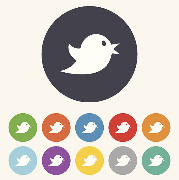 social media icon. short messages twitter symbol. - twitter 幅插畫檔、美工圖案、卡通及圖標